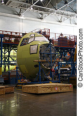 Airplane Fuselage Being Manufactured - Inside Aerospace...