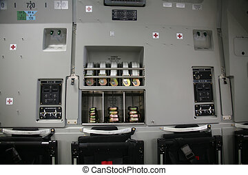 Inside Panel of Military Aircraft C-17 - Military Aircraft...