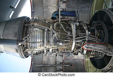 C-17 Military Aircraft Engine - Inside of C-17 Military...