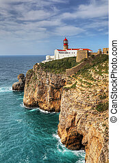 Cape St. Vincent Lighthouse in Portugal
