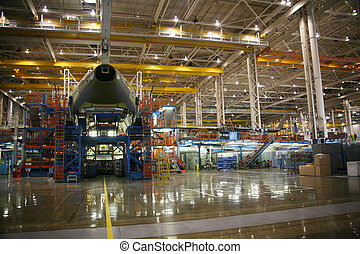 Airplane Manufacturing Facility - Inside Aerospace...