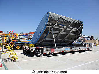 Cargo Shipping Area in Aerospace Plant - Shipping Area of...