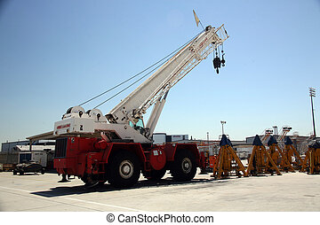 Cargo Shipping Crane in Aerospace Plant - Shipping Area of...