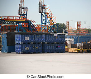Shipping Area of Plant - Shipping Receiving Area Outside...