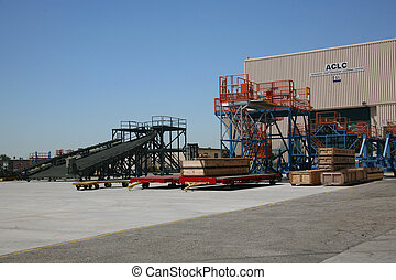 Airplane Manufacturing Facility - Shipping Receiving Area...