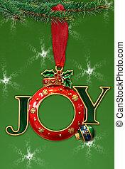 hermoso, marco, feriado, ornamento, aislado