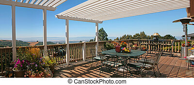 Outdoor Patio With Spectacular View - Beautiful Outdoor...