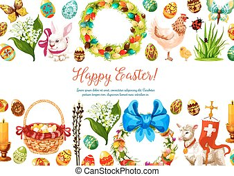 Vector paschal geeting card for Easter design - Easter...