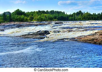 Waterfall landscape