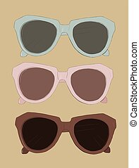 Vintage sunglasses  vector.