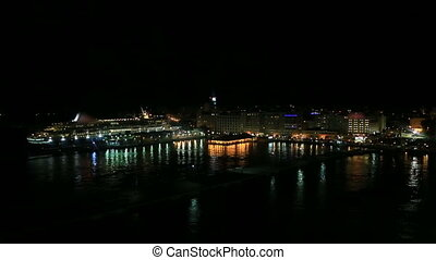 Cruise ship in San Juan Harbor