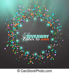 Vector Giveaway Button Template - Illustration of Vector...