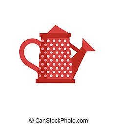 Red Watering Can Icon