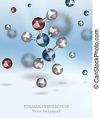 Ethanol Background Image - Ethanol molecule background in...