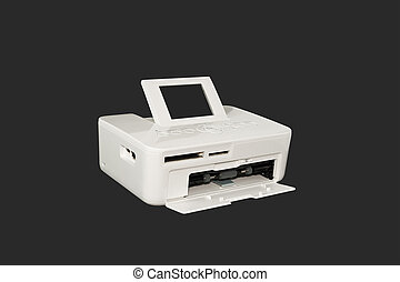 Sublimation printer. Isolated on a black background.