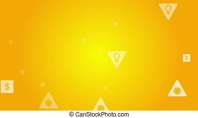 Bright social communication icons video animation - Bright...