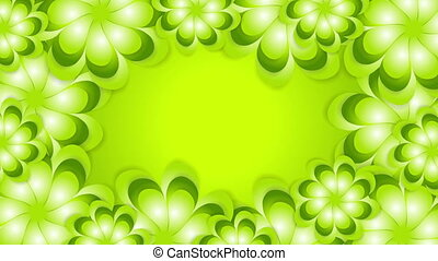 Green spring abstract flowers video animation - Green spring...