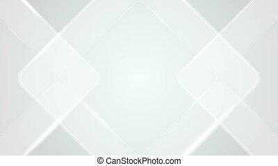 Light grey blue geometric squares video animation - Light...