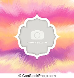 watercolour background with frame for photo 0803 - Colourful...
