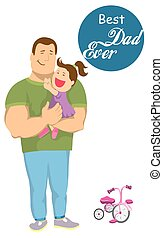dad and daughter. fatherhood. paternal feelings - dad and...