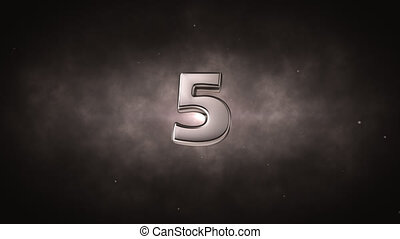 Countdown - 3d number in space