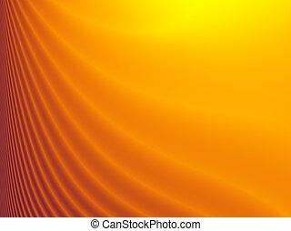 Fractal background in orange