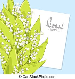 Bright bouquet of lilies - Bright may lillies background...