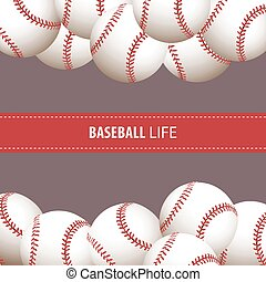bright baseball background - Bright baseball background with...