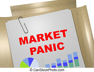 Market Panic - business concept