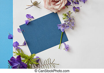 Frame of spring flowers - Poster is designed with help of...