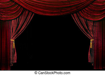 Old fashioned, elegant theater stage drapes - Old fashioned,...