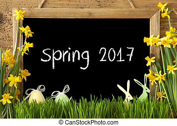 Narcissus, Easter Egg, Bunny, Text Spring 2017 - Blackboard...