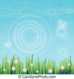 Spring sky background. Vector for your design