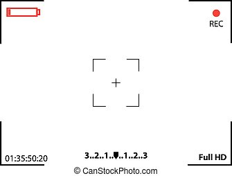 Camera Viewfinder Rec Background - Camera viewfinder....