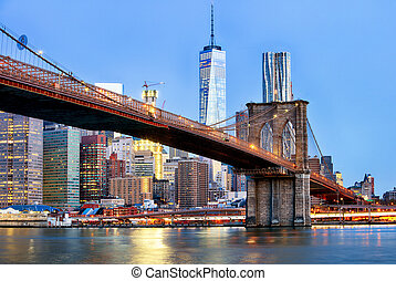 Manhattan skyline, New York City.