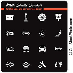 car shop icon set - car shop vector icons for user interface...