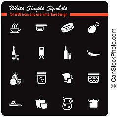 food and kitchen icon set - food and kitchen vector icons...