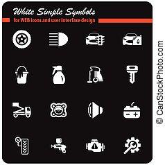 car shop icon set - car shop vector icons for user interface...