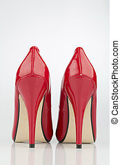 red high heels, symbol photo for fashion, elegance and...