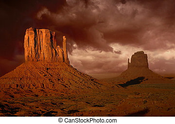 Natures Fury in Monument Valley Arizona - Dramatic Landscape...
