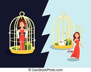 Marriage Golden Cage Concept - Marriage convenience golden...