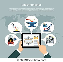 Ordering Forged Products Online - Blacksmith order forgings...