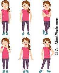 Little girls emotions illustration - Little girls emotions...
