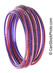 Traditional Nepalese Bangles Macro Isolated - Isolated macro...