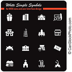 infrastructure icon set - infrastructure vector icons for...