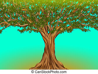 Huge African tree, the old fig tree