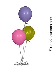 Isolated Birthday Party Balloons Pastel Colors