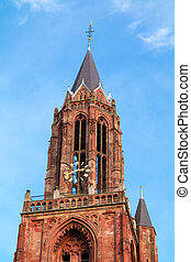 Tower of St Johns Church in Maastricht, Netherlands - Red...
