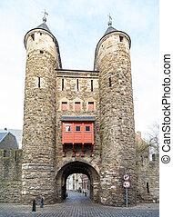 Helpoort city gate in Maastricht, Netherlands - City gate...