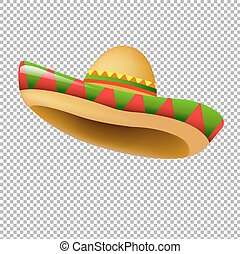 Sombrero-With Gradient Mesh, Vector Illustration